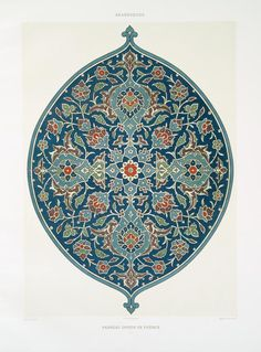 """'L'art Arabe', a rare collection of breathtaking set of plates (wood engraving, heliogravures and color lithographs) of the famous Islamic-Arab designs and ornaments published by the French art historian Prisse d'Avennes sometime during 1869 Arabic Pattern, Pattern Art, Print Patterns, Motif Oriental, Islamic Patterns, Arabic Design, Art Decor, Decoration, Turkish Art"