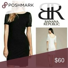 """NWT Preforated Dress BR black Banana Republic 10 New with tags never worn little black dress from Banana Republic. 40"""" from shoulder to bottom hem. Features scoop back. Stretchy material, very forgiving and flattering. Banana Republic Dresses"""