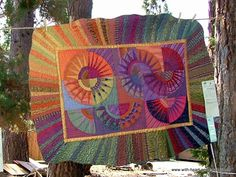 Michele Bilyeu Creates *With Heart and Hands*: Sisters Outdoor Quilt Show: Peter and Wendy Quilts