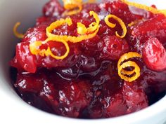 Ginger and cranberry chutney