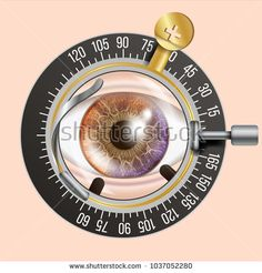 Eye Test Banner Vector. Trail Frame. Diagnostic Equipment. Optometrist Check. Care Illustration