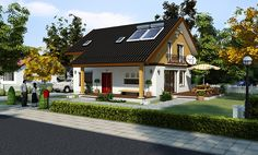 Case cu etaj din lemn elegante
