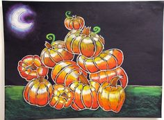 1000 images about art lessons autumn on pinterest oil for Glow in the dark paint for real pumpkins