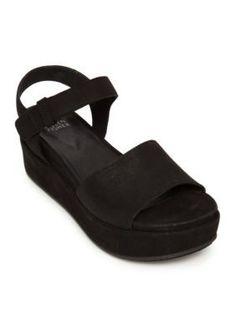 Eileen Fisher Black Jasper Flatform Sandals