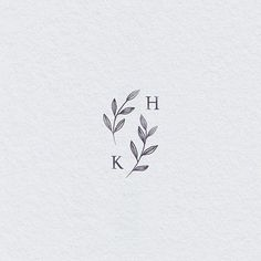 Wedding logo monogram Botanical wedding logo - Famous Last Words Mini Tattoos, Kinderinitialen Tattoos, Small Tattoos, Tatoos, Inner Elbow Tattoos, Unique Small Tattoo, Yoga Tattoos, Kids Initial Tattoos, Tattoos For Kids