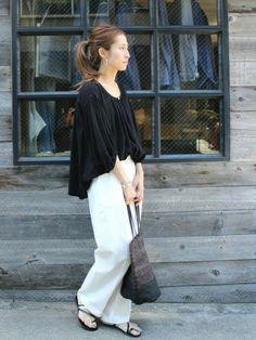 Spick & Span 本社 | haruさんのシャツ/ブラウス「FRAMeWORK ≪予約≫Cシフォンギャザーブラウス。」を使ったコーディネート