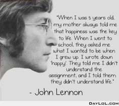 An important John Lennon quote