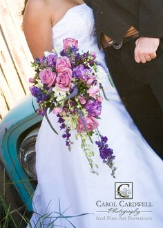 purple cascade bouquet