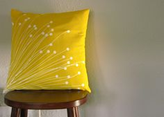 Britta Yellow Pillow Cover by kristin813 on Etsy, $24.00