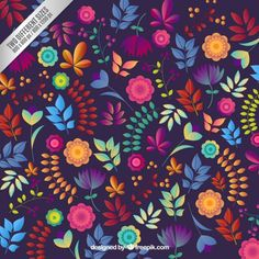 Floral background in colorful style   - Freepik.com-Patterns-pin-47