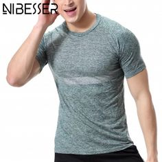 NIBESSER Sportmen T-shirt Men Short Sleeve Slim Fitness Top Tees Summer Fashion Rock Russia Casual T Shirts 2017 New Z30 #Affiliate