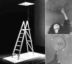 Like many people, I first heard of Yoko Ono as the woman who broke up the Beatles. I also vividly recall people snickering about her . Yoko Ono, Beatles, Robert Rauschenberg, Neo Dada, Ceiling Painting, Painting Art, Instalation Art, John Lennon And Yoko, Fluxus