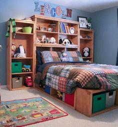 DIY Furniture : DIY Full Storage (Captains) Bed
