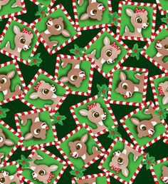 holiday inspirations fabric christmas rudolph clarice fleece christmas images christmas holidays christmas