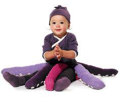Faschingskostüme Kinder Babys oktopoden lila