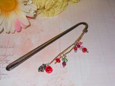 Love of Roses & Books Bookmark by OurBeadedCharms on Etsy, $9.50