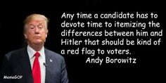 Funny Quotes Mocking Donald Trump: Andy Borowitz on Trump and Hitler