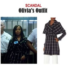 "On the blog: Olivia Pope's check plaid printed trench coat | Scandal 406 - ""An Innocent Man"" #tvstyle #tvfashion #outfits #fashion #gladiators #TGIT"