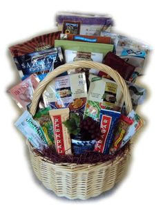 Diabetic fathers day healthy gift basket gift baskets for gluten free group healthy gift basket by well baskets oversized gift basket full of enough gluten free snacks for a whole group or family negle Gallery