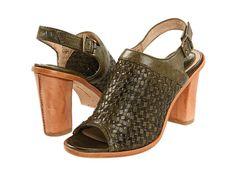 Frye Sofia Woven Sling Olive Soft Vintage Leather - 6pm.com