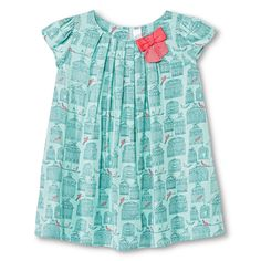 Toddler Girls' Feather Lace Overlay A Line Dress - Green