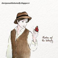 From 🐍 LA VIPERA E LA FARFALLA 🦋, our animated #webcomic about war and plague, love and destiny in Italian Alps in 1917. English, French and Italian versions. #comics #manga #romance #Alps #Italy #witch #ww1 #drama #watercolour #lagomaggiore #butterfly