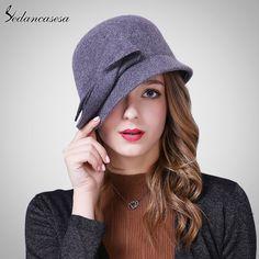 Autumn Winter Hat Female England Wool Felt Hat Retro Cloche Hats Hot selling Warm Bucket Hats for women FW209001