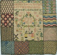 "muirgilsdream: ""Swedish sampler, 1885. "" Swedish Embroidery, Embroidery Sampler, Embroidery Art, Simple Embroidery, Esquivel, Drawn Thread, Cross Stitch Love, Primitive Furniture, Antique Quilts"