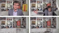 Real men admit it when they make a mistake :p  haha, I love John Green #nerdfighters #vlogbrothers #JohnGreen