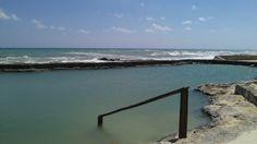 Eldorado royale natural saltwater pool, on the beach