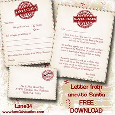 Super Cute Free Christmas Printable Letter To Santa Kids