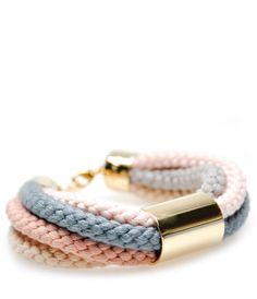 Color Cord Bracelet in Pale