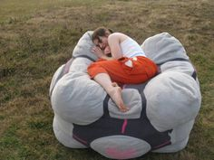 Companion Cube Bean Bag Chair