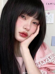 Cute Makeup, Pretty Makeup, Makeup Looks, Soft Makeup, Korean Makeup Look, Asian Makeup, Doll Eye Makeup, Hair Makeup, Aesthetic People