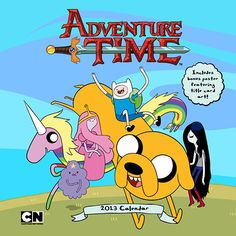 Adventure Time 2013 Wall Calendar: 2013 is adventure time! With Jake the dog and Finn the human, the fun will never end in this adventurous wall c Watch Adventure Time, Adventure Time Characters, Land Of Ooo, Cartoon Network Shows, Finn The Human, Jake The Dogs, Popular Cartoons, Kids Calendar, Bubbline