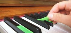 piano scales with postits