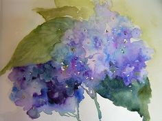 Marilyn lebhar--great gesture of hydrangea--not botanically precise but gets the representation across