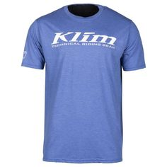 T-Shirt Klim K Corp SS T Blue Frost-White Riding Gear, Frost, Logos, Ss, Mens Tops, T Shirt, Blue, Products, Fashion