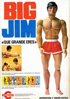 """Big Jim was my brothers doll and Barbie was mine and we used to say they were a couple. But Barbie towered over """"Big"""" Jim."""