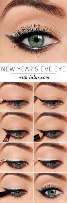Aprende a hacer el Cat Eye Liner paso a paso y muy facil! En: http://www.deseobeauty.com/maquillaje/como-hacer-la-raya-del-ojo/