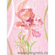 Tapet hârtie Izaura roz