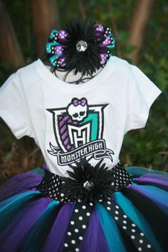 Monster High cumpleaños Tutu 3 conjunto de por TinasOnceUponATutu