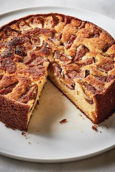 Fresh Fig & Ricotta Cake from Barefoot Contessa. Butter and flour a round springform pan, tapping out the excess flour. Fig Recipes, Banana Bread Recipes, Easter Recipes, Cake Recipes, Dessert Recipes, Orange Recipes, Muffin Recipes, Vegetarian Recipes, Queso Ricotta