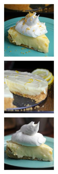 Luscious Lemon Sour Cream Pie! Collage