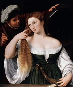 "Barthel Beham, 1525-1540, ""Young woman at her toilet"" / ""Junge Frau bei der Toilette"", Staatsgalerie altdeutsche Kunst, Augsburg"