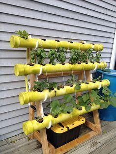 Easy DIY PVC Hydroponics backyard system. #hydroponicssystem