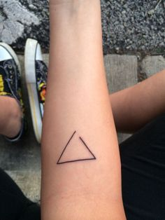 my very first tattoo. an open triangle symbolizes open to change. I'm completely in love with it #tattoo