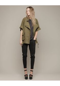 Isabel Marant. Ulyse Jacket. Platform shoes are too reminiscent of Chinese foot binding for my taste, but this jacket rocks!