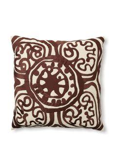 Trina Turk Embroidered Rustic Medallion Pillow at MYHABIT