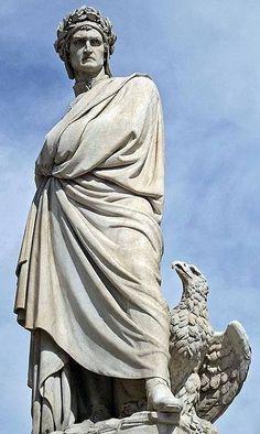 Dante Alighieri sculpture in Florence
